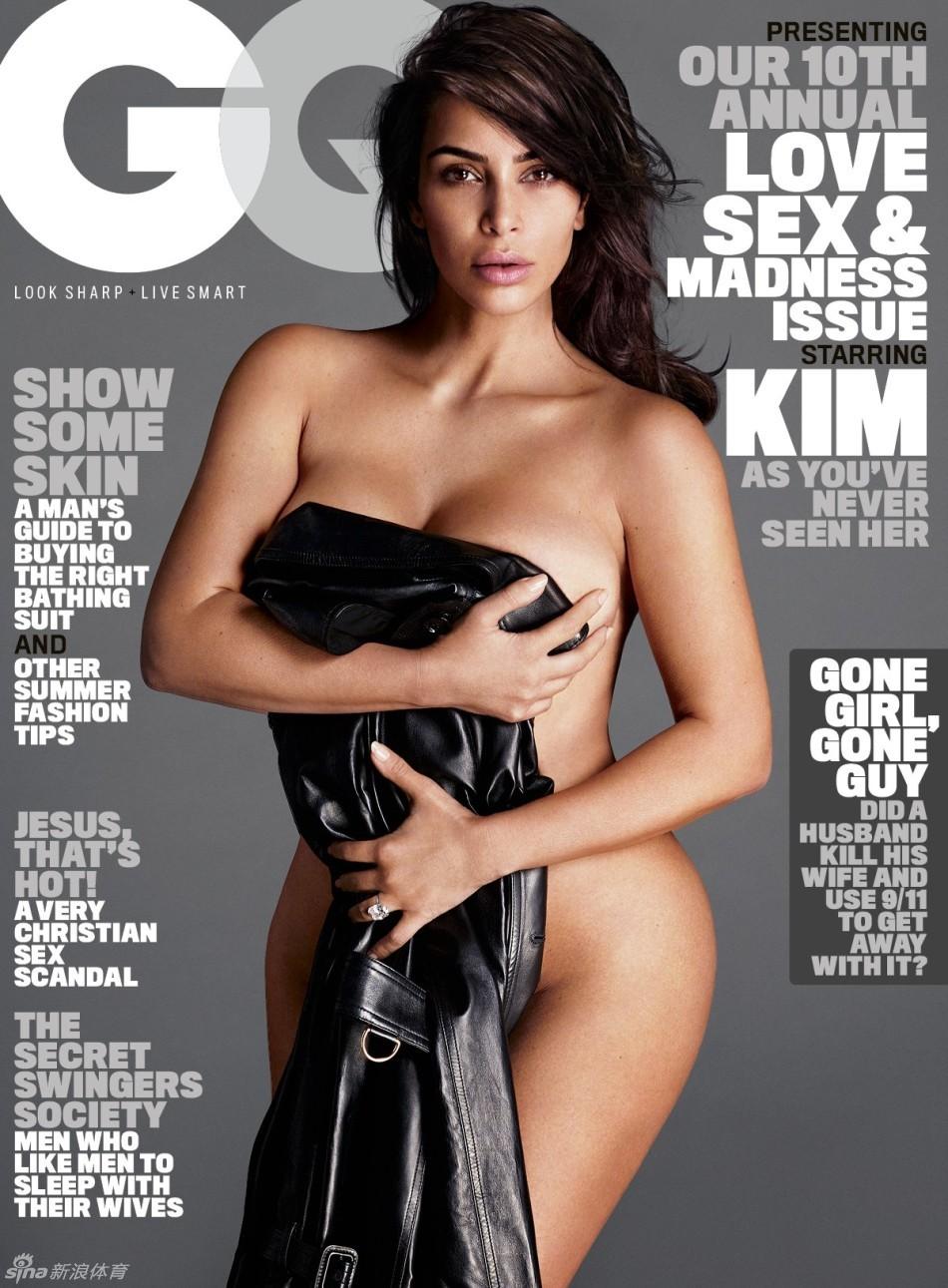 卡戴珊全裸登《GQ》杂志封面