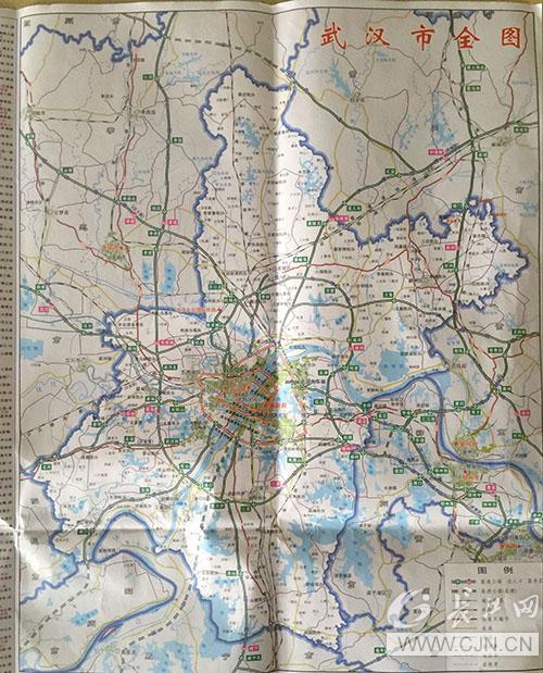 最新版武汉交通游览图无新洲?省地图院:误解