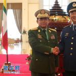 许其亮与缅甸国防军总司令敏昂莱举行会谈