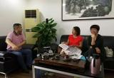 市妇联来武汉科技报交流和参观